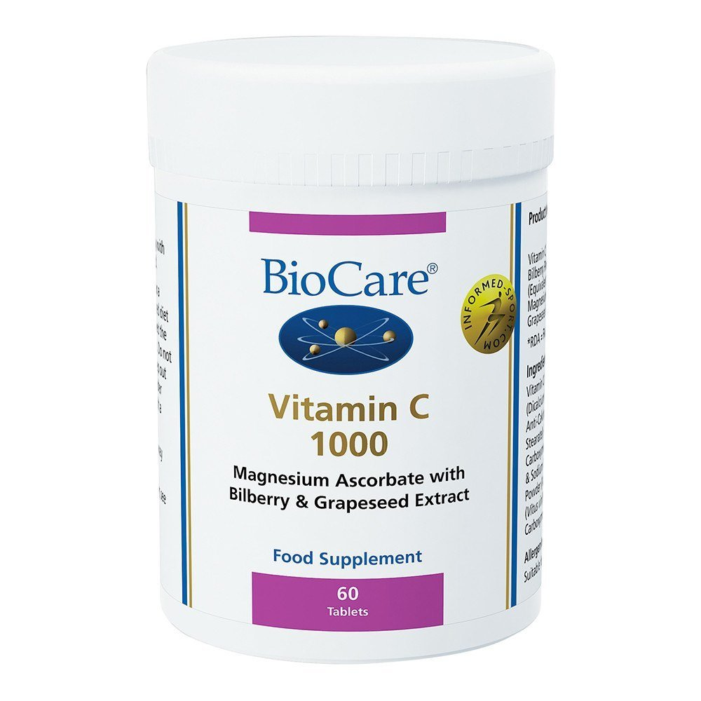 BioCare One a Day Vitamin C 1000 803 mg 60 Tablets - Lifestyle Labs