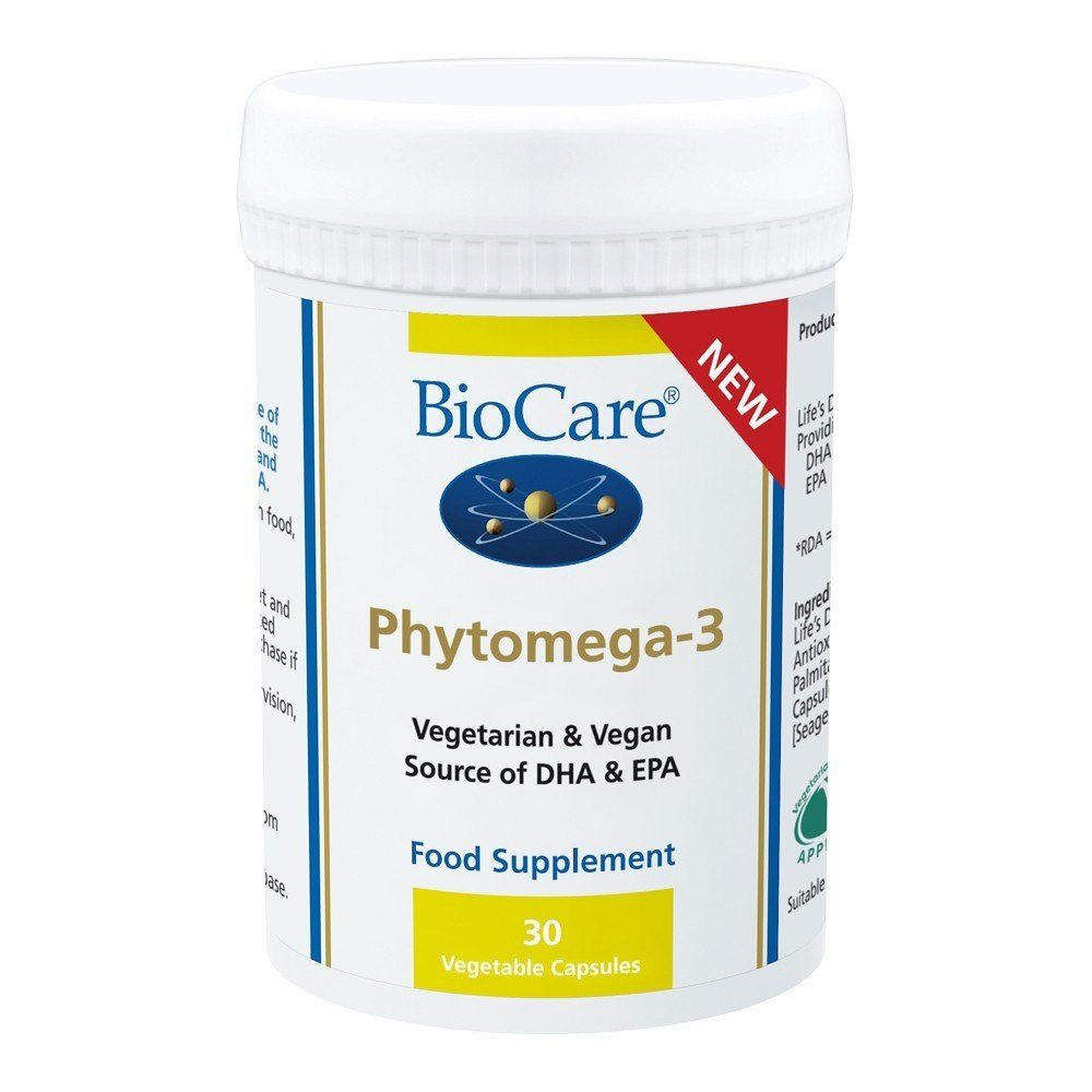 BioCare Phytomega-3 Vegetarian Omega 3 30 Capsules - Lifestyle Labs