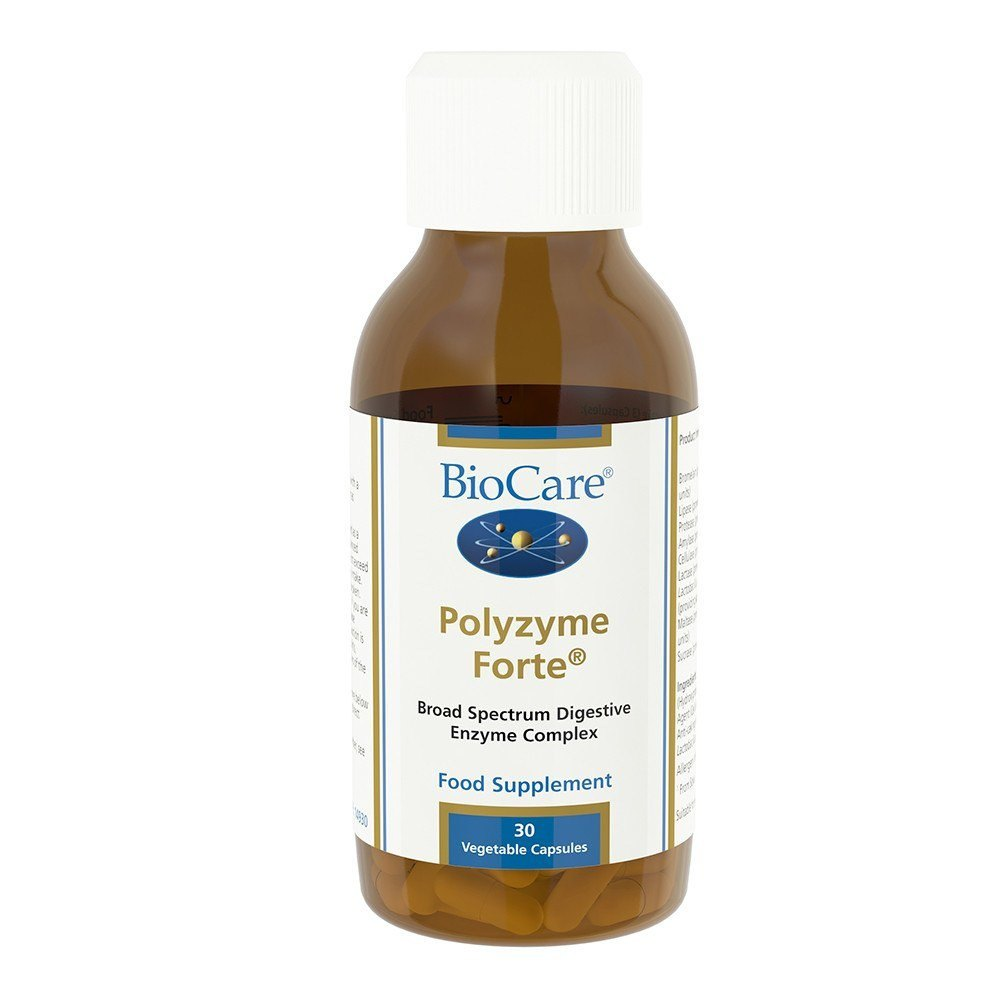 BioCare Polyzyme Forte Enzyme Complex 30 Capsules - Lifestyle Labs