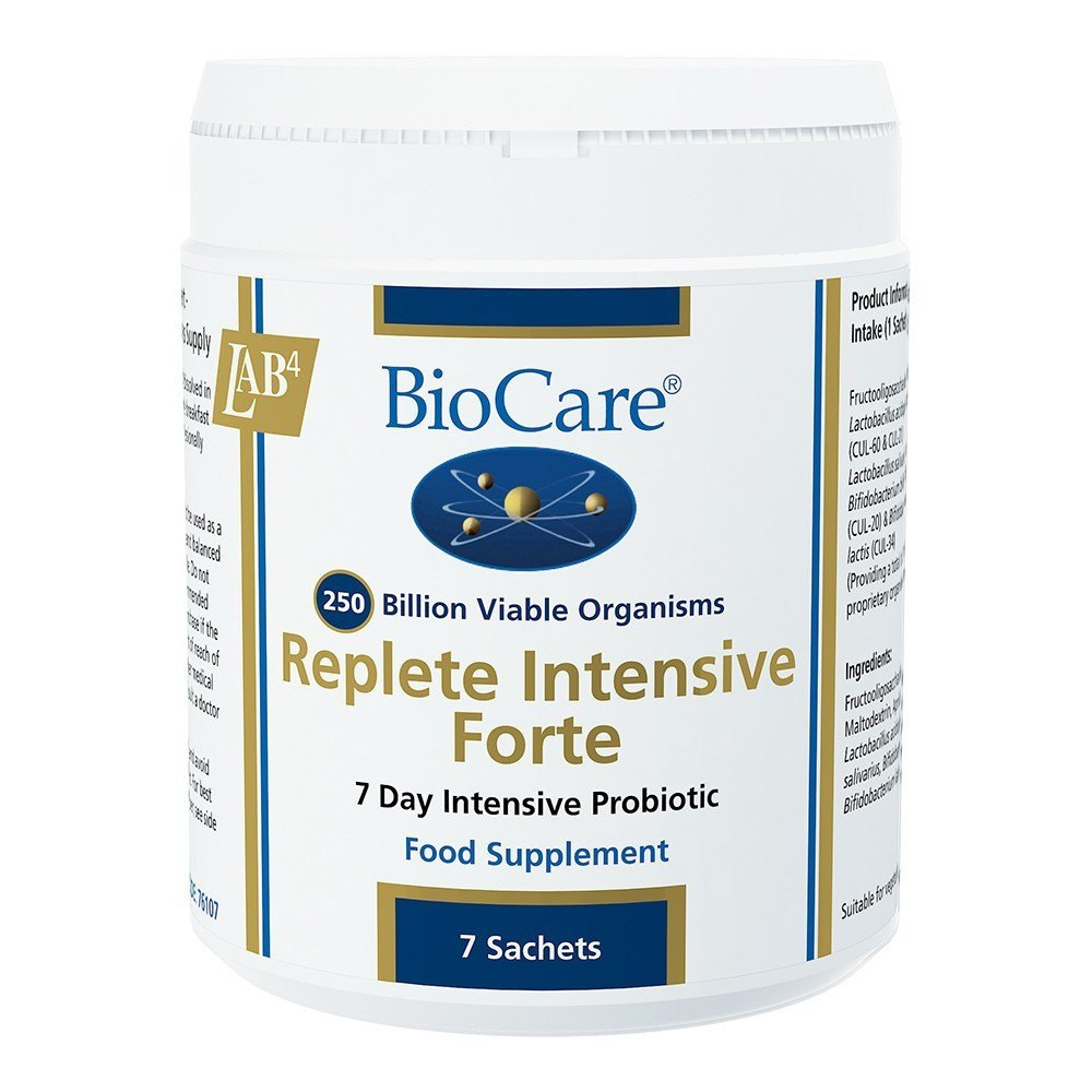 BioCare Replete Intensive Probiotic 130 Billion 7 Sachets - Lifestyle Labs