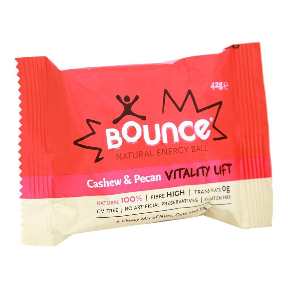 Bounce Cashew & Pecan 'Vitality Lift' 40 g Bar - Lifestyle Labs