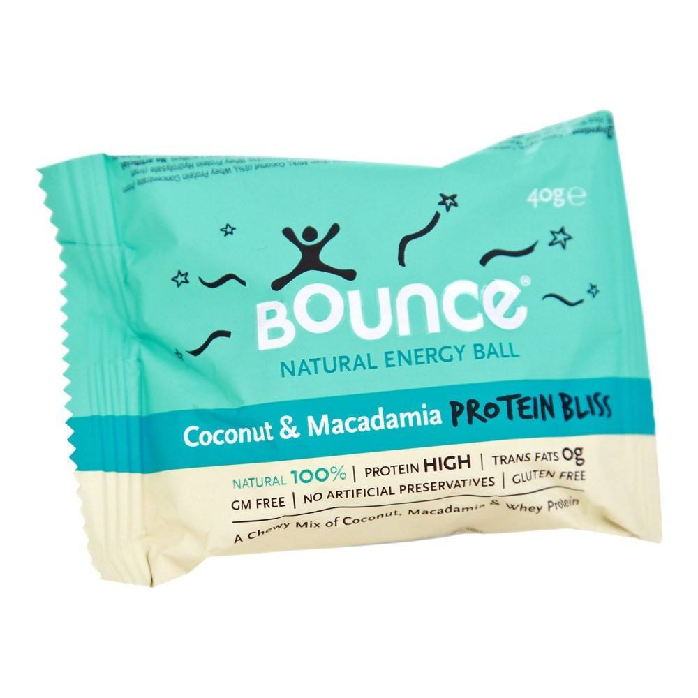 Bounce Coconut & Macadamia 'Protein Bliss' 40 g Bar - Lifestyle Labs