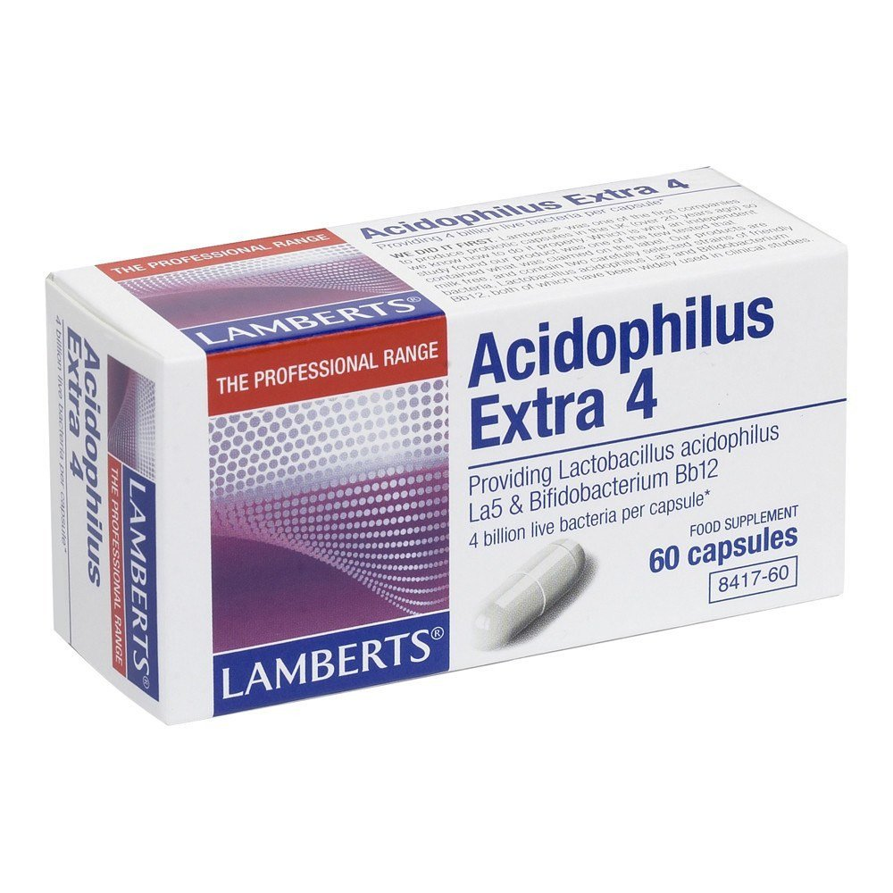 Lamberts Acidophilus Extra 4 Billion 60 Capsules - Lifestyle Labs