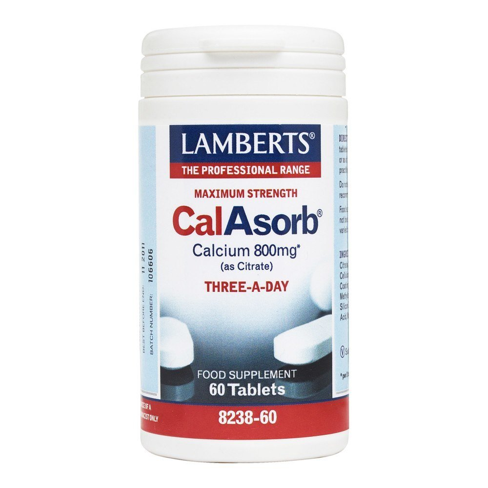 Lamberts CalAsorb Calcium 800 mg 60 Tablets - Lifestyle Labs