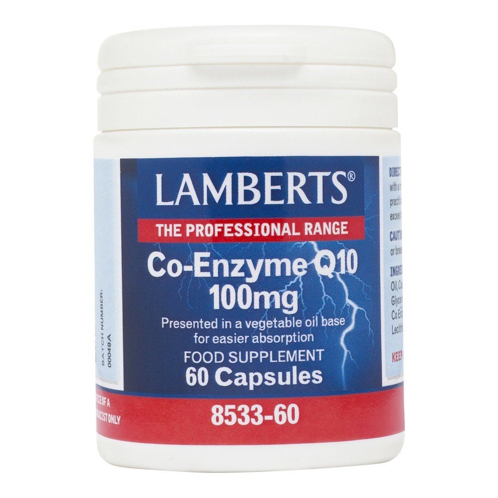 Lamberts Co Enzyme Q10 100 mg 60 Capsules - Lifestyle Labs
