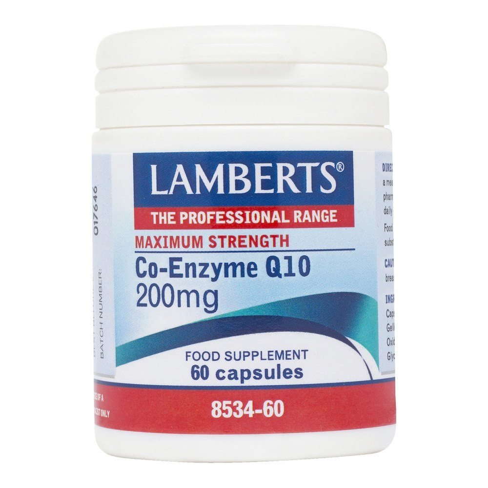 Lamberts Co Enzyme Q10 200 mg 60 Capsules - Lifestyle Labs