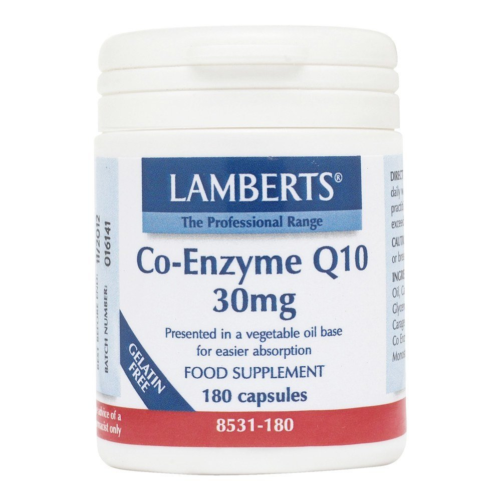 Lamberts Co Enzyme Q10 30 mg 180 Capsules - Lifestyle Labs