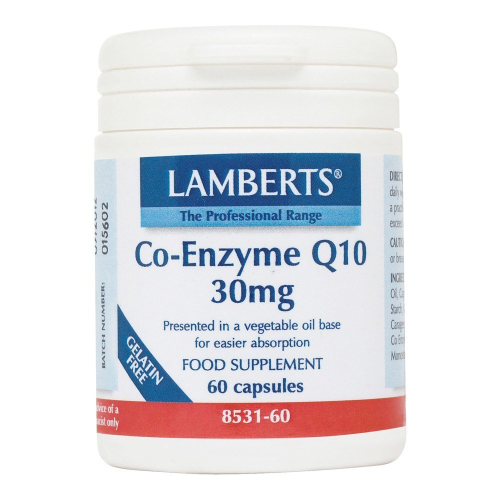 Lamberts Co Enzyme Q10 30 mg 60 Capsules - Lifestyle Labs