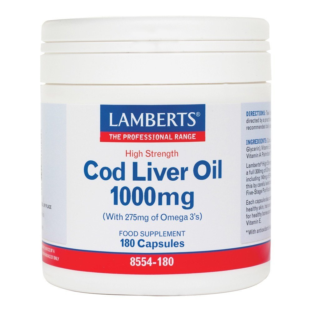 Lamberts Cod Liver Oil 1000 mg 180 Capsules - Lifestyle Labs