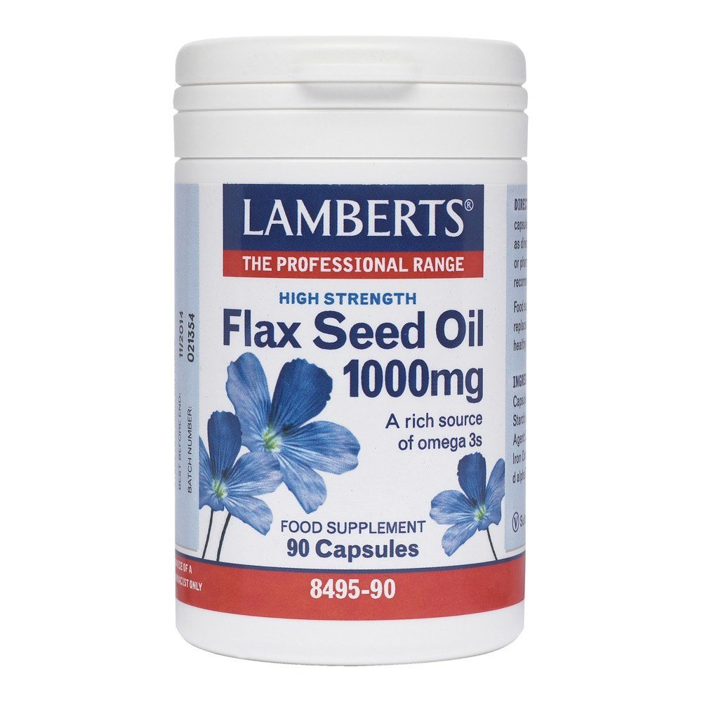 Lamberts Flax Seed Oil 1000 mg 90 Capsules - Lifestyle Labs