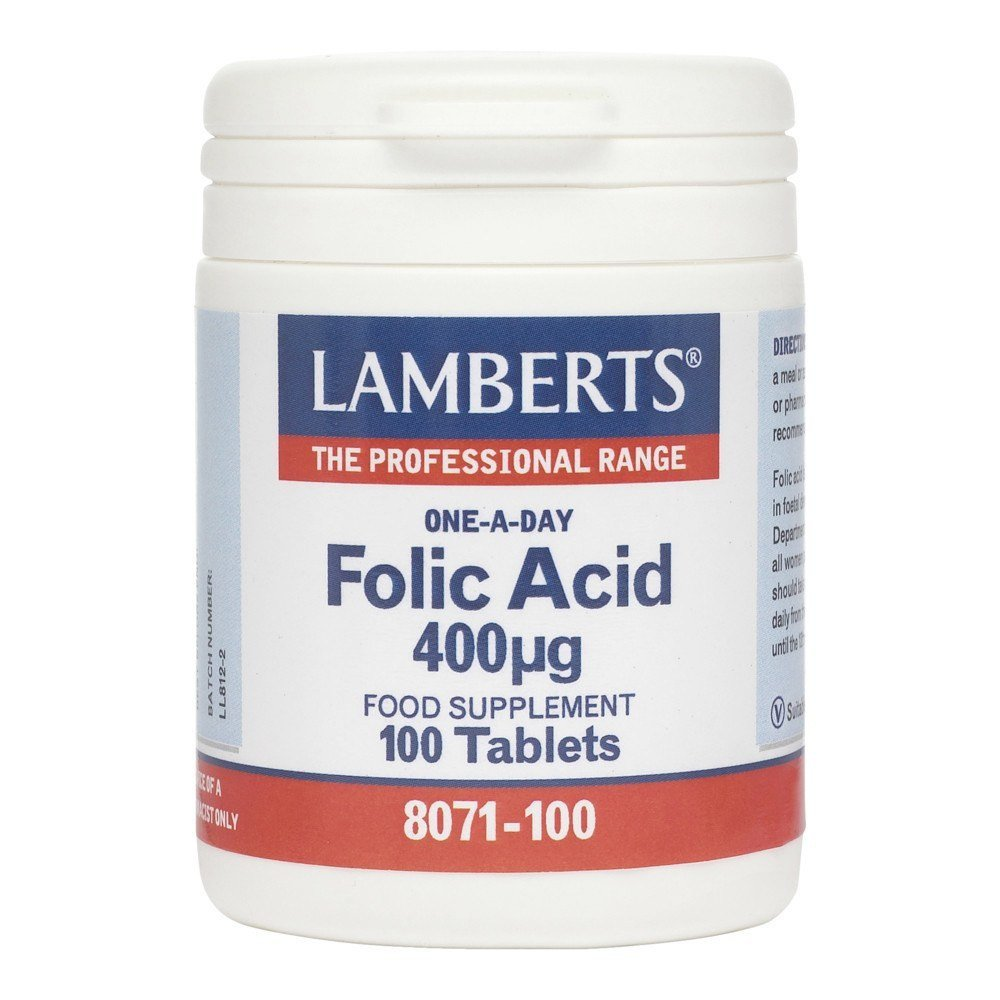 Lamberts Folic Acid 400 mcg 100 Tablets - Lifestyle Labs