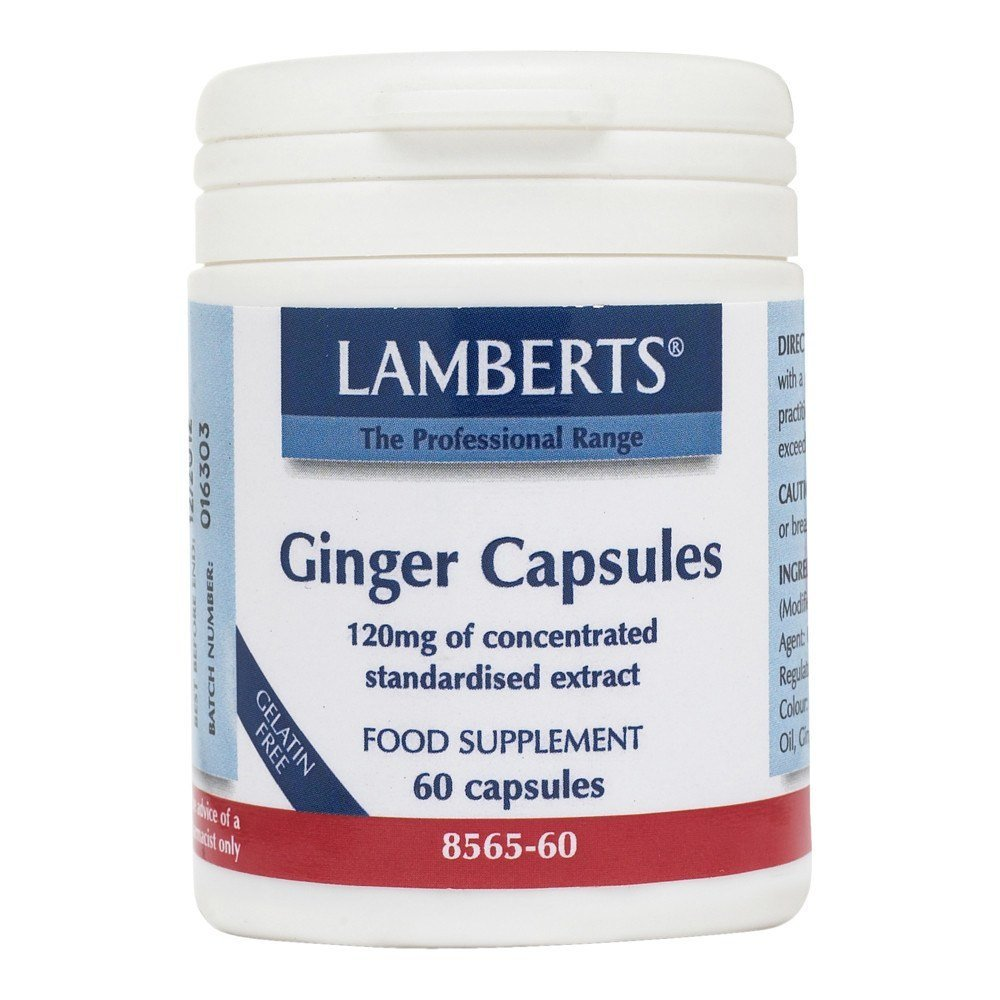 Lamberts Ginger 14400 mg 60 Capsules - Lifestyle Labs