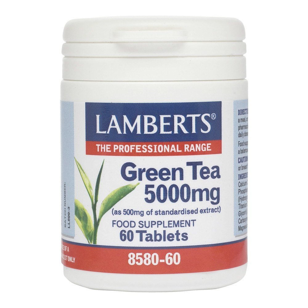Lamberts Green Tea 5000 mg 60 Tablets - Lifestyle Labs