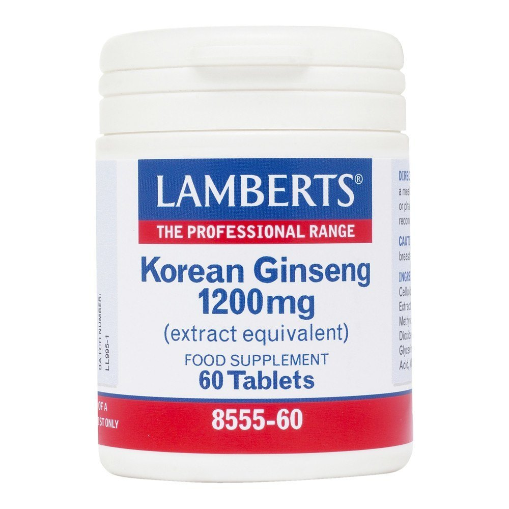 Lamberts Korean Ginseng 1200 mg 60 Tablets - Lifestyle Labs
