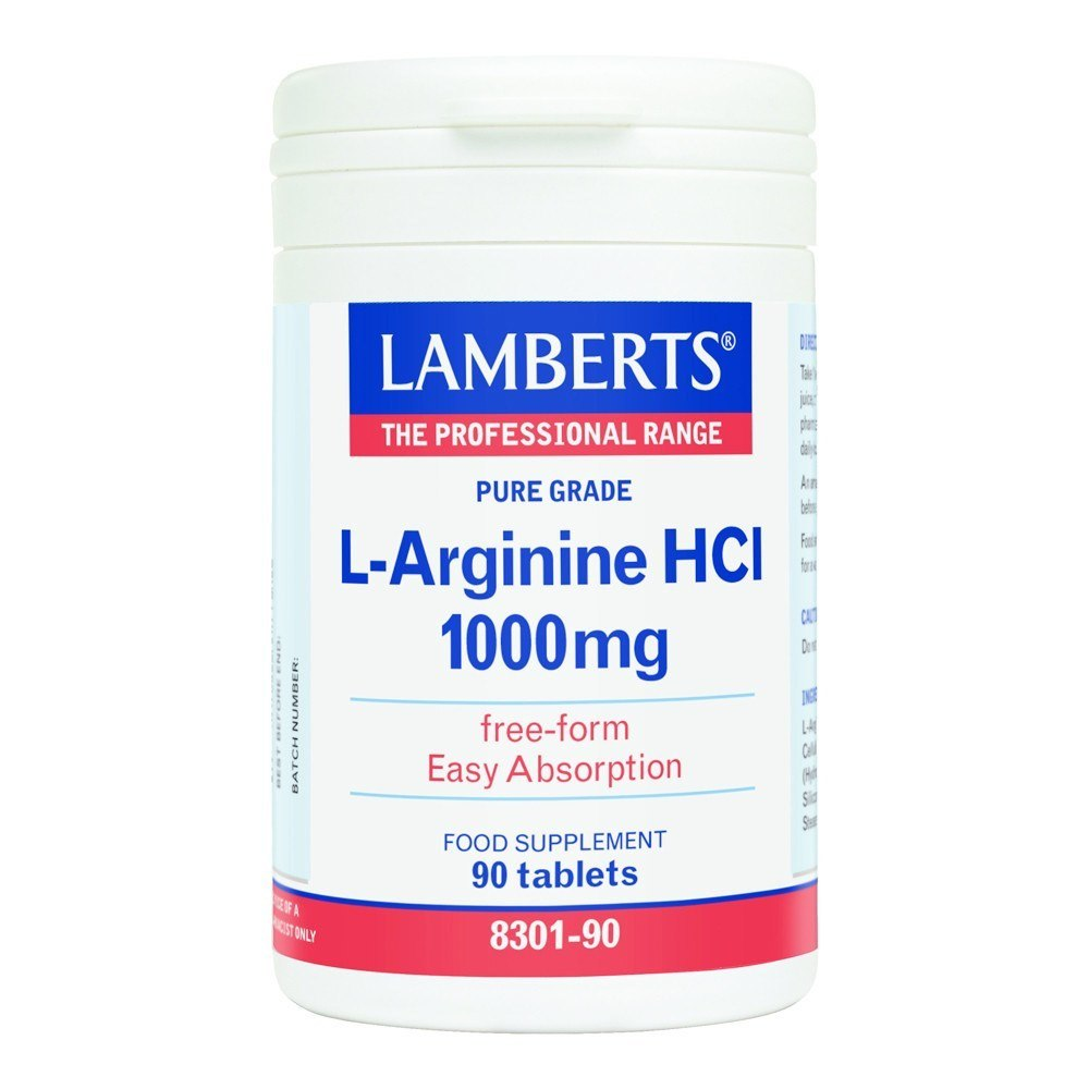 Lamberts L-Arginine HCl 1000 mg 90 Tablets - Lifestyle Labs
