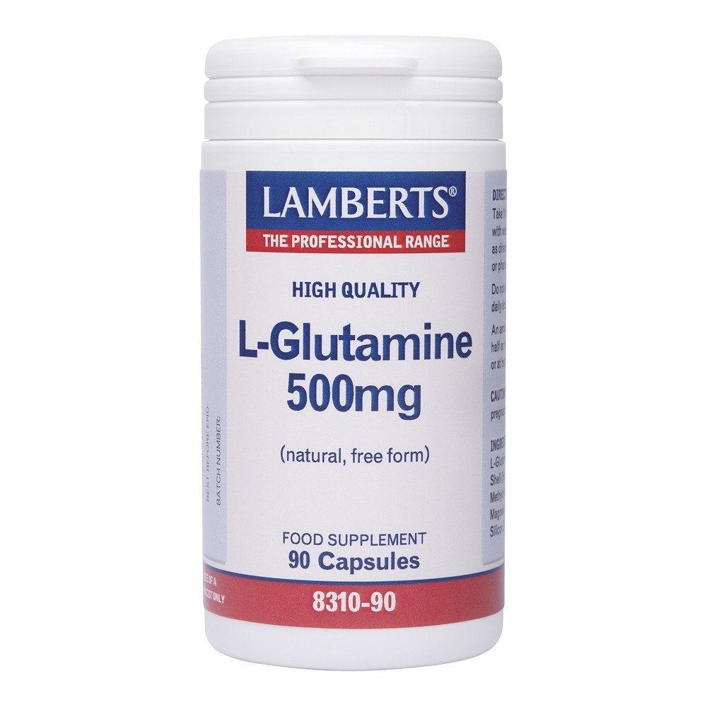 Lamberts L-Glutamine 500 mg 90 Capsules - Lifestyle Labs