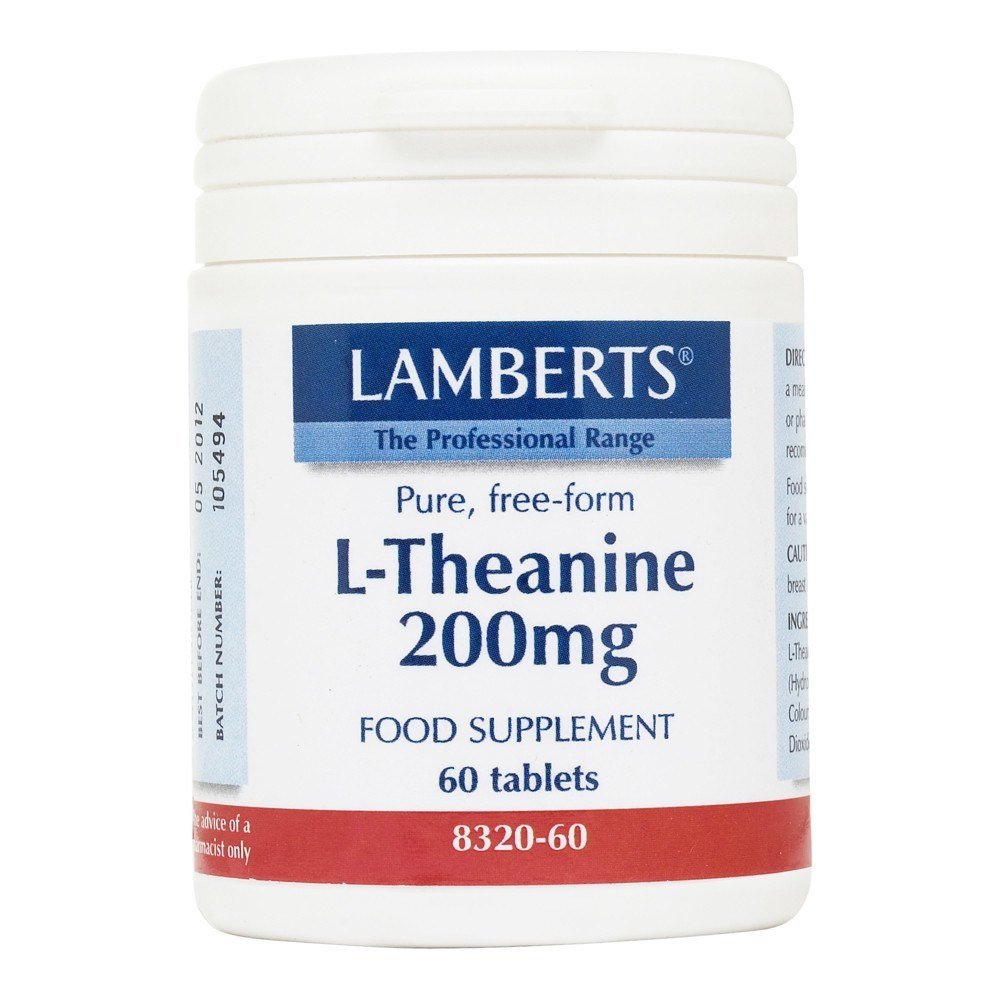 Lamberts L-Theanine 200 mg 60 Tablets - Lifestyle Labs