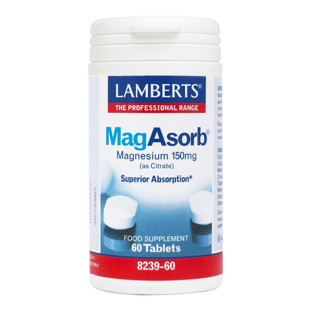 Lamberts MagAsorb Magnesium 150 mg 60 Tablets - Lifestyle Labs
