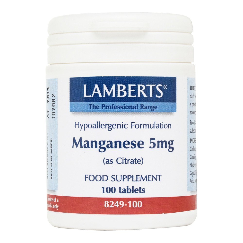 Lamberts Manganese 5 mg 100 Tablets - Lifestyle Labs