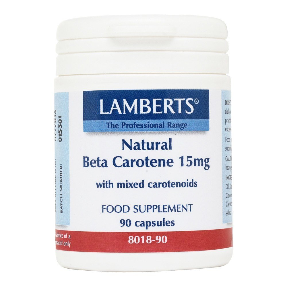 Lamberts Natural Beta Carotene 15 mg 90 Capsules - Lifestyle Labs