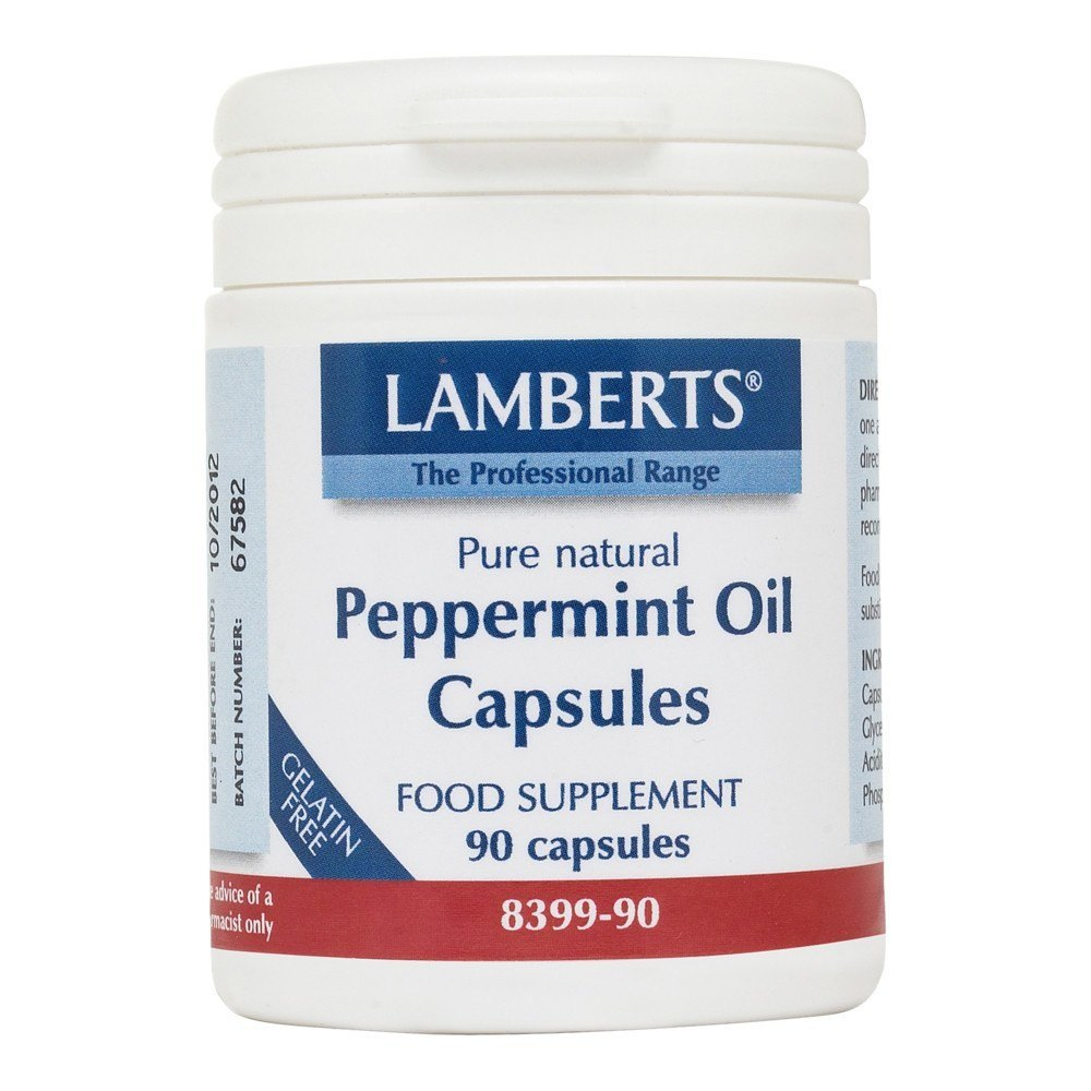 Lamberts Peppermint Oil 50 mg 90 Capsules - Lifestyle Labs