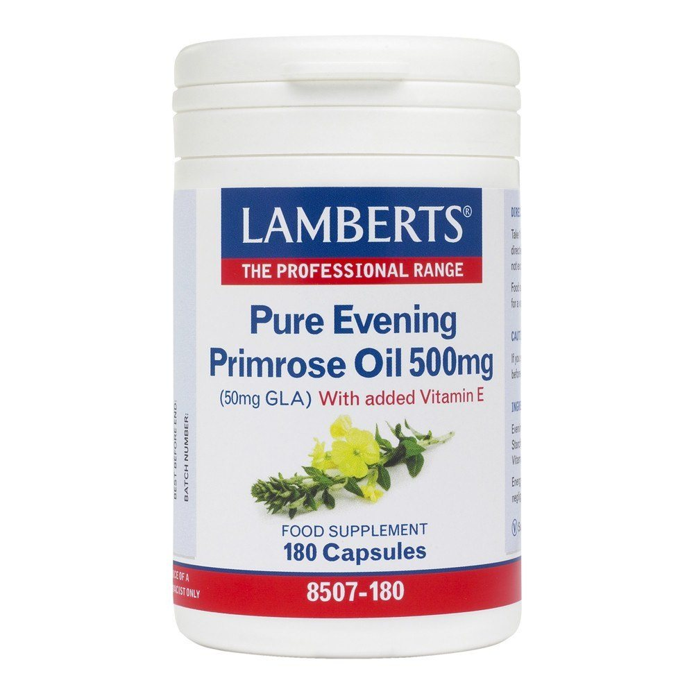 Lamberts Pure Evening Primrose Oil 500 mg 180 Capsules - Lifestyle Labs