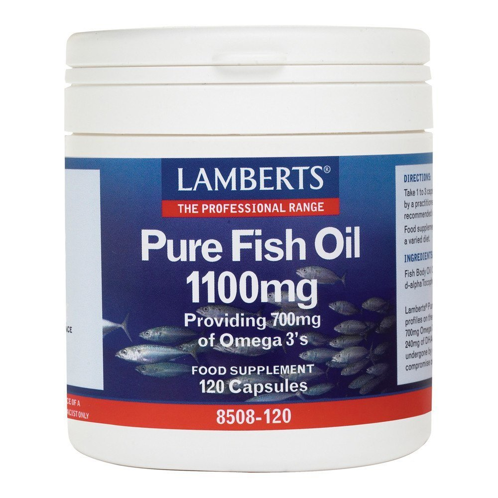 Lamberts Pure Fish Oil 1100 mg 120 Capsules - Lifestyle Labs