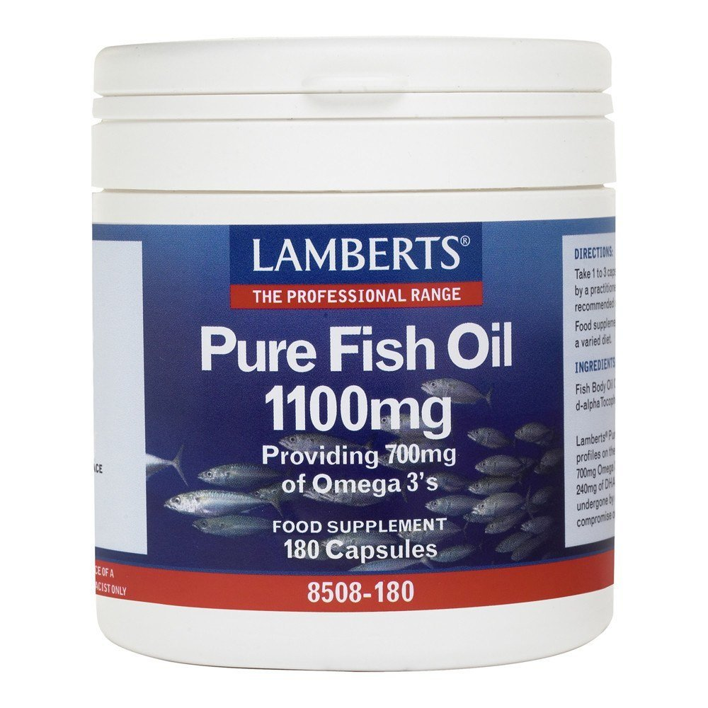 Lamberts Pure Fish Oil 1100 mg 180 Capsules - Lifestyle Labs