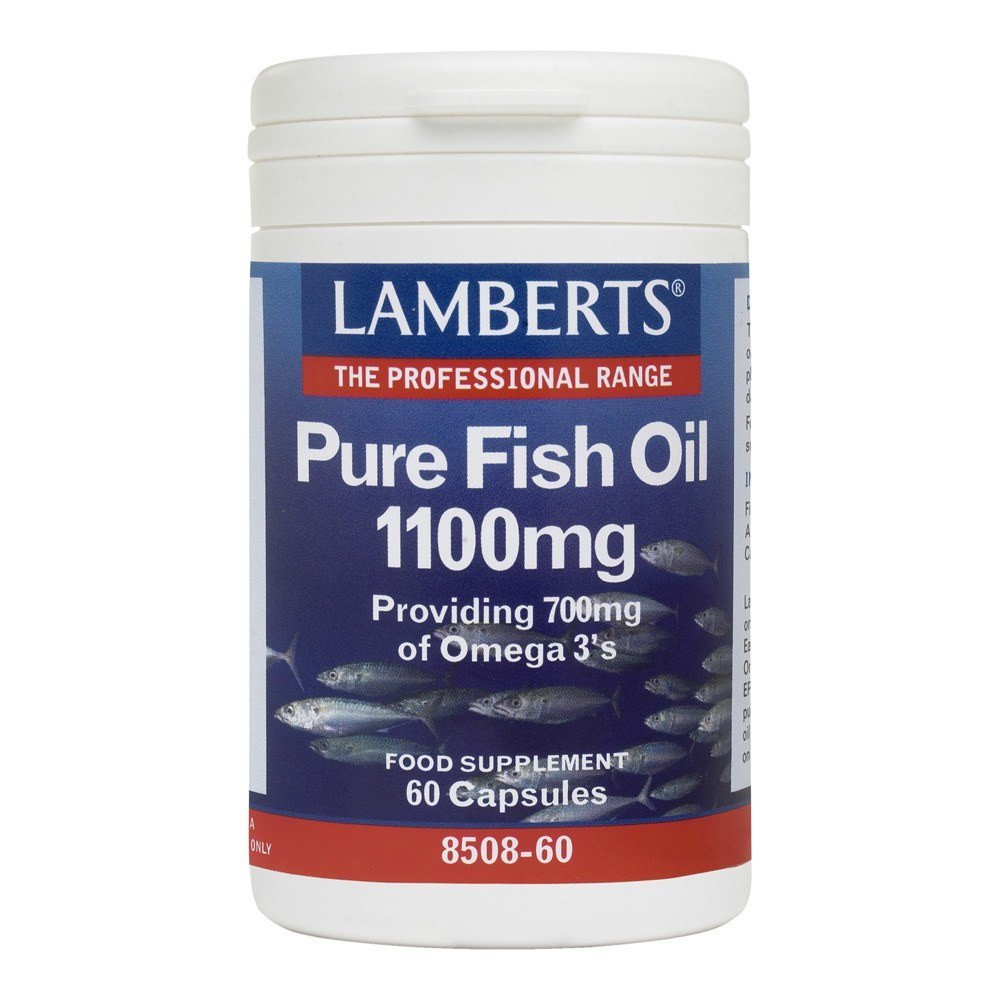 Lamberts Pure Fish Oil 1100 mg 60 Capsules - Lifestyle Labs