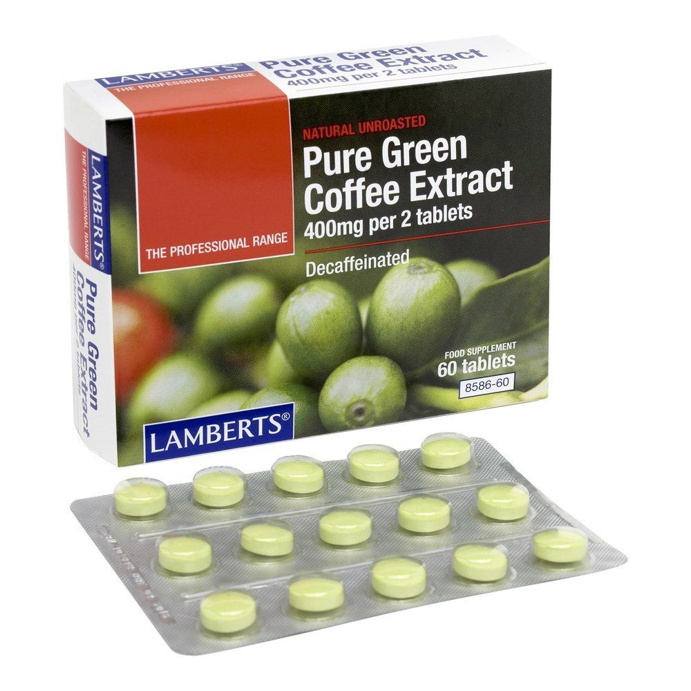 Lamberts Pure Green Coffee Extract 400 mg 60 Tablets - Lifestyle Labs