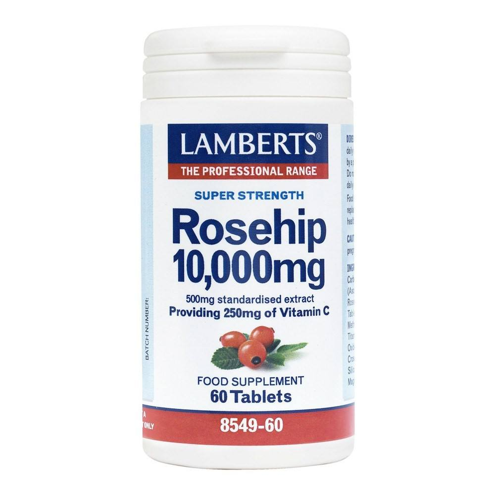 Lamberts Rosehip 10000 mg 60 Tablets - Lifestyle Labs