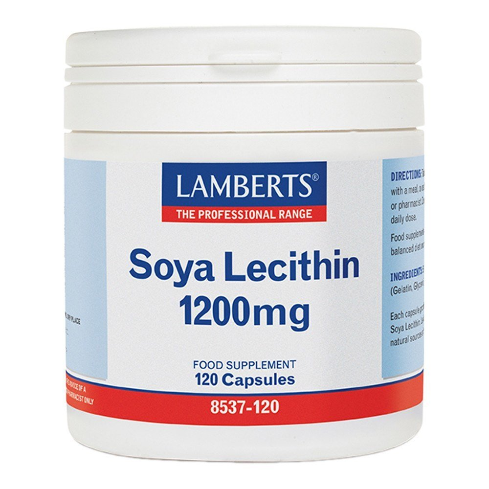 Lamberts Soya Lecithin Capsules 1200 mg 120 Capsules - Lifestyle Labs
