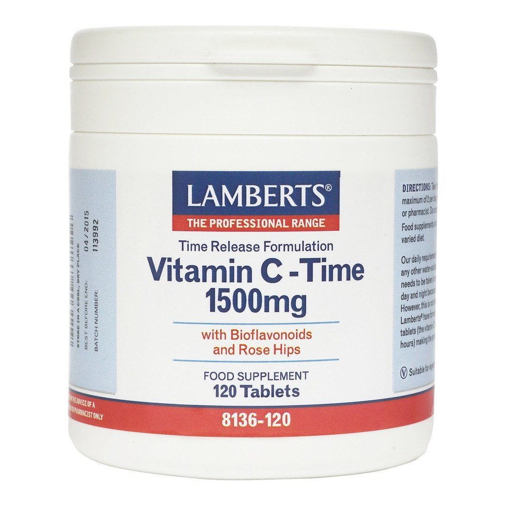 Lamberts Time Release Vitamin C 1500 mg 120 Tablets - Lifestyle Labs