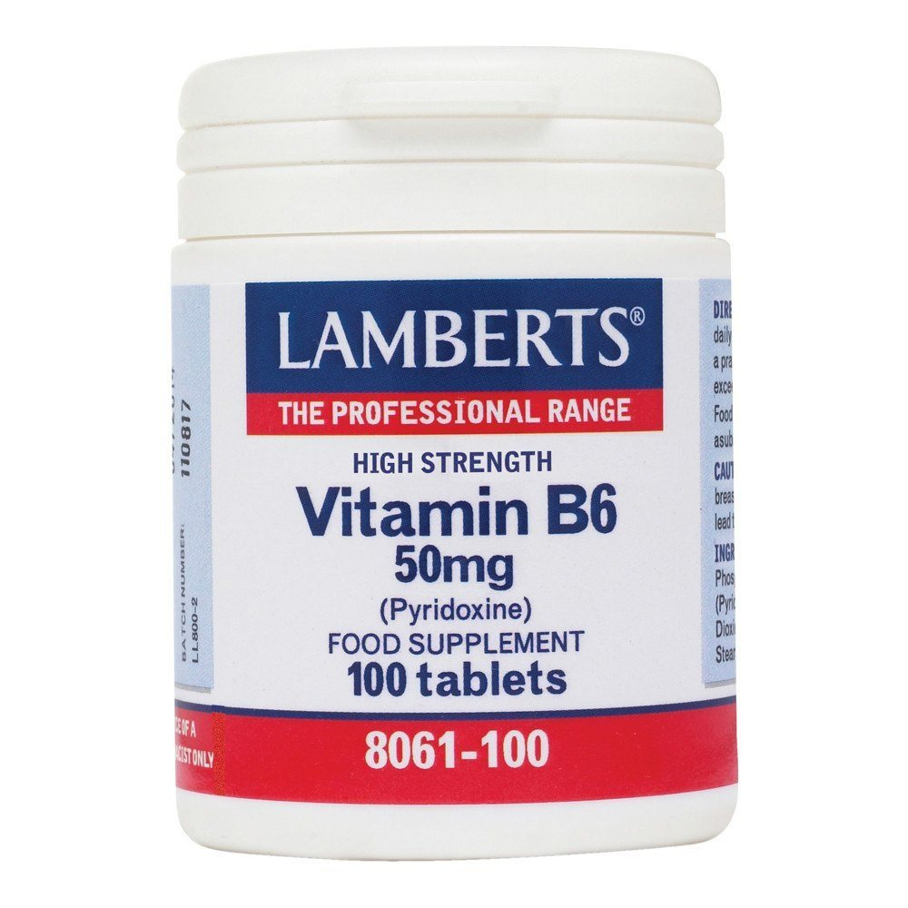 Lamberts Vitamin B6 50 mg 100 Tablets - Lifestyle Labs