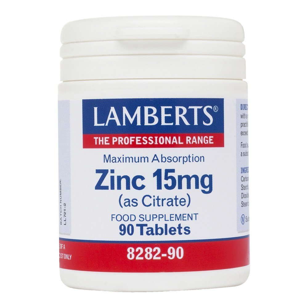 Lamberts Zinc 15 mg 90 Tablets - Lifestyle Labs
