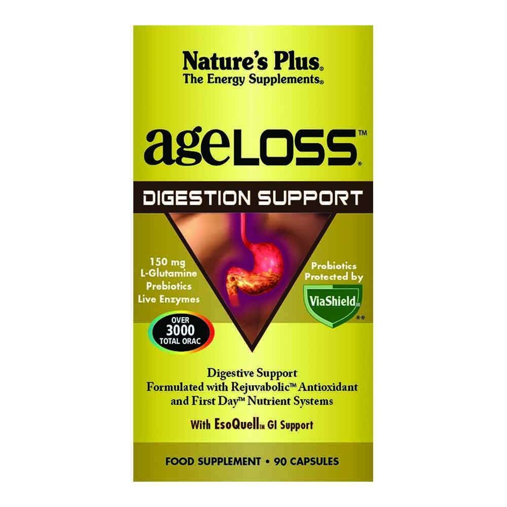 Natures Plus Ageloss Digestion Support 90 Capsules - Lifestyle Labs