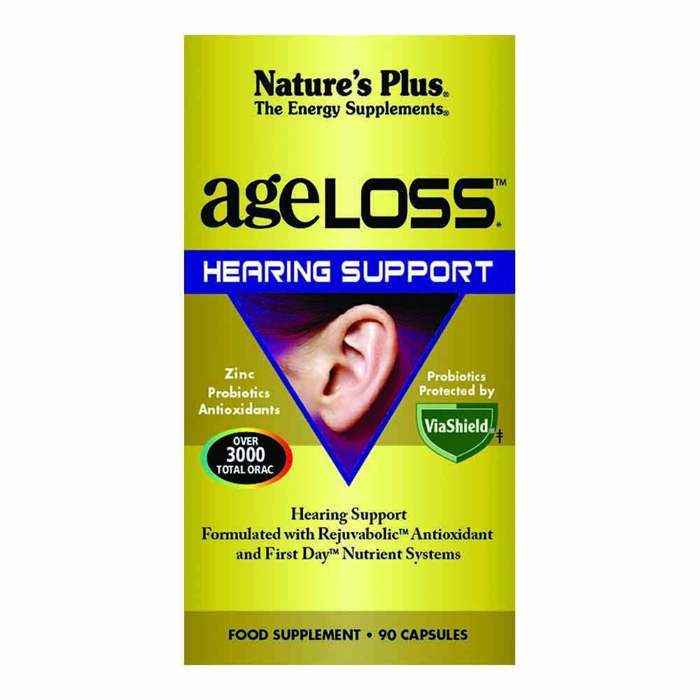 Natures Plus Ageloss Hearing Support 90 Capsules - Lifestyle Labs