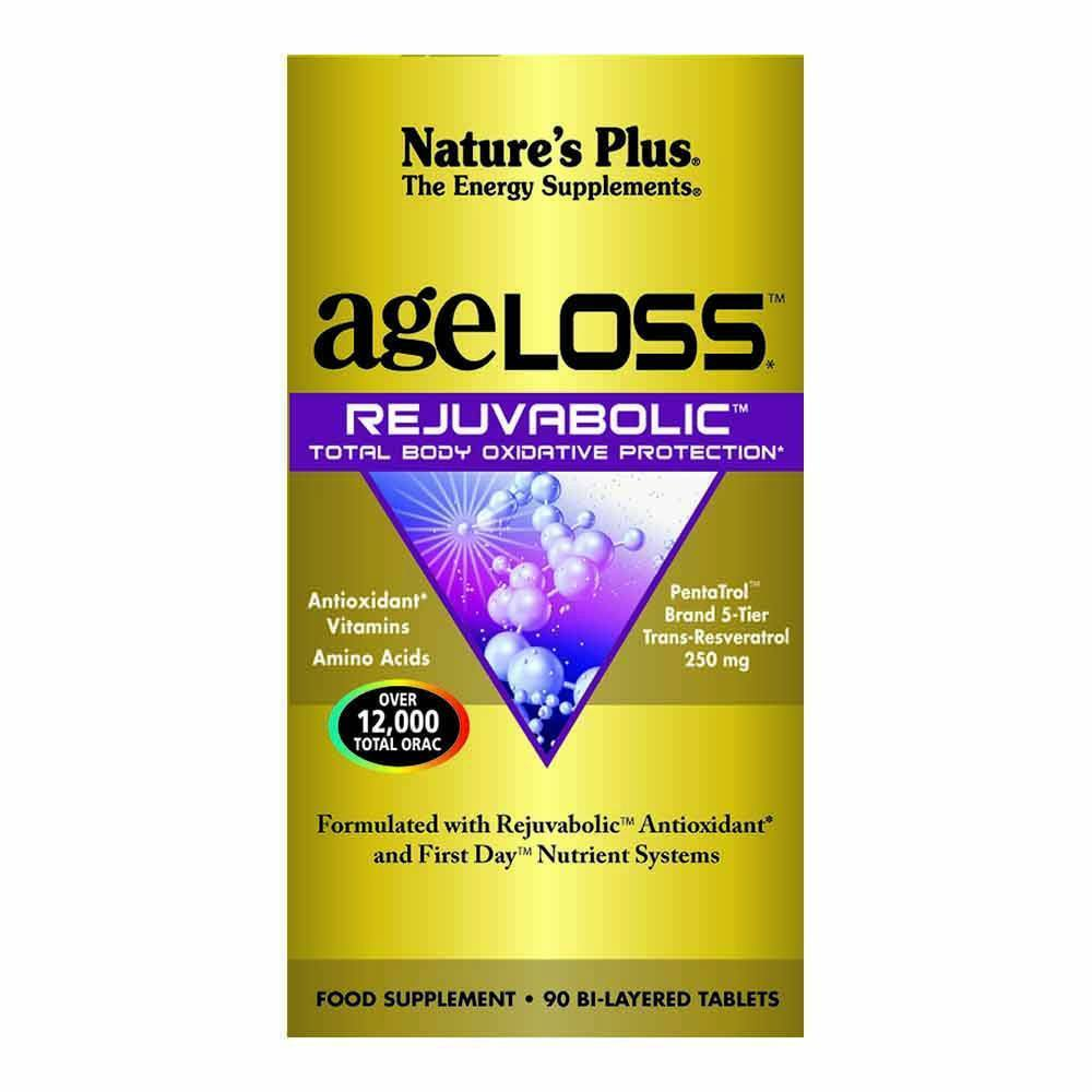 Natures Plus Ageloss Rejuvabolic 90 Tablets - Lifestyle Labs