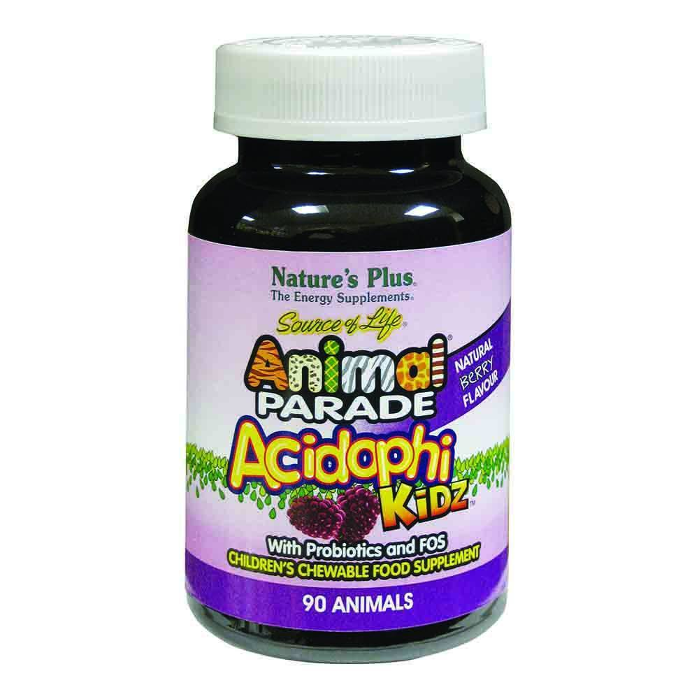 Natures Plus Animal Parade Acidophikidz 90 Chewables - Lifestyle Labs