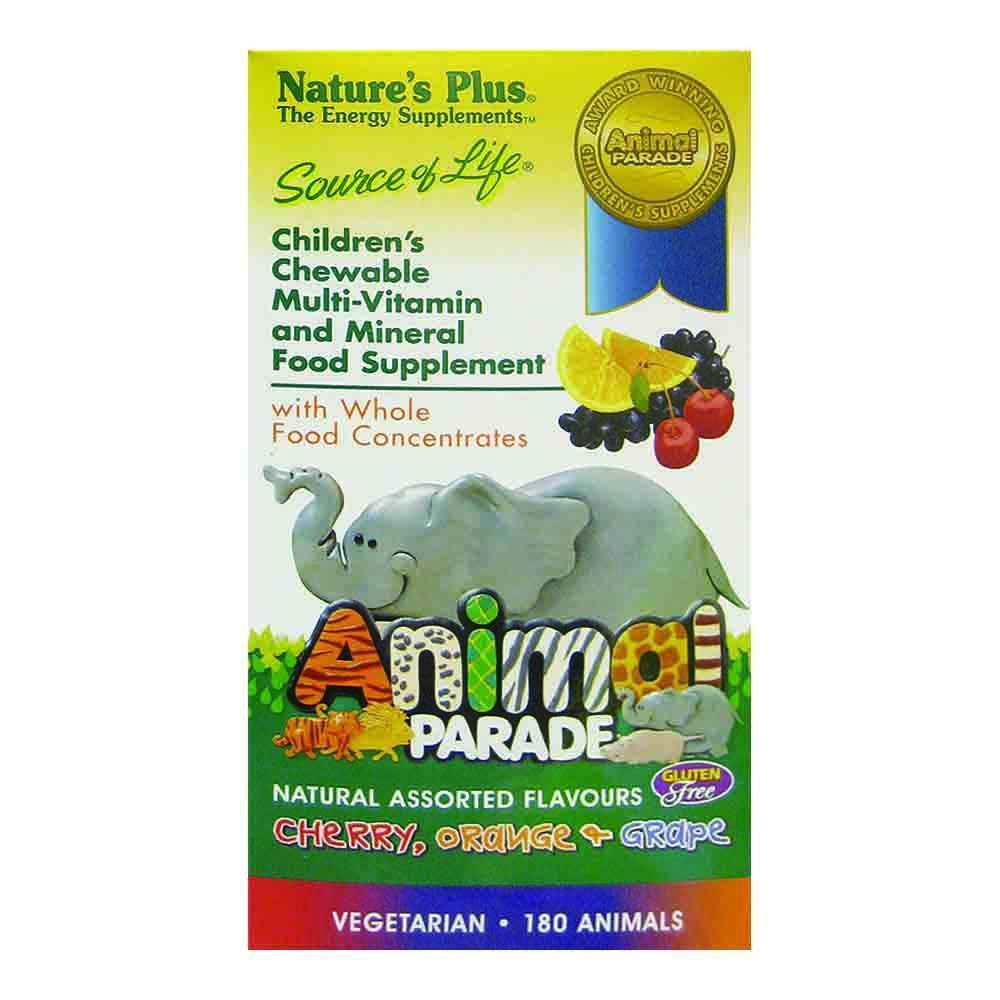 Natures Plus Animal Parade Assorted Flavours 180 Chewables - Lifestyle Labs