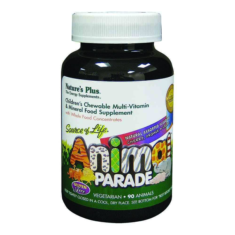 Natures Plus Animal Parade Assorted Flavours 90 Chewables - Lifestyle Labs