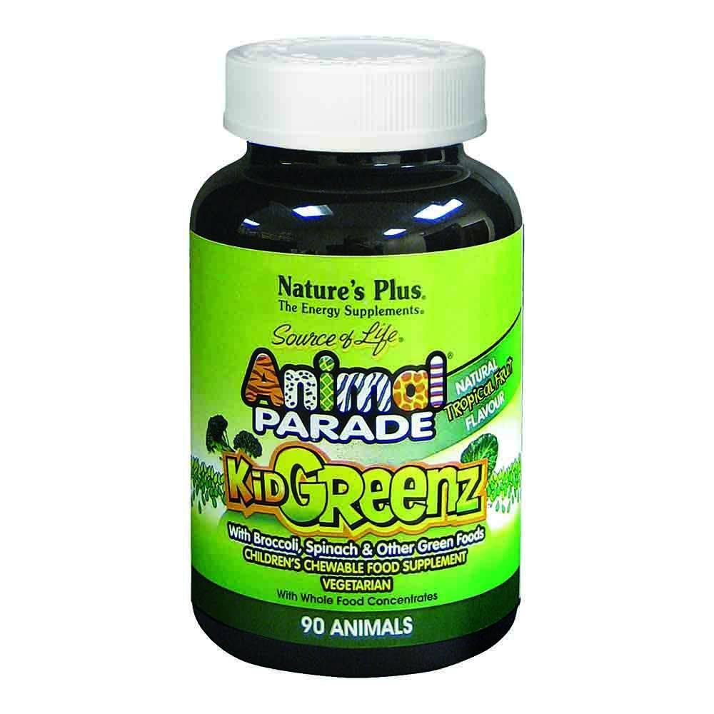 Natures Plus Animal Parade Kidgreenz 90 Chewables - Lifestyle Labs