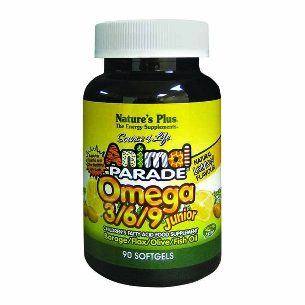 Natures Plus Animal Parade Omega 3/6/9 90 Softgels - Lifestyle Labs