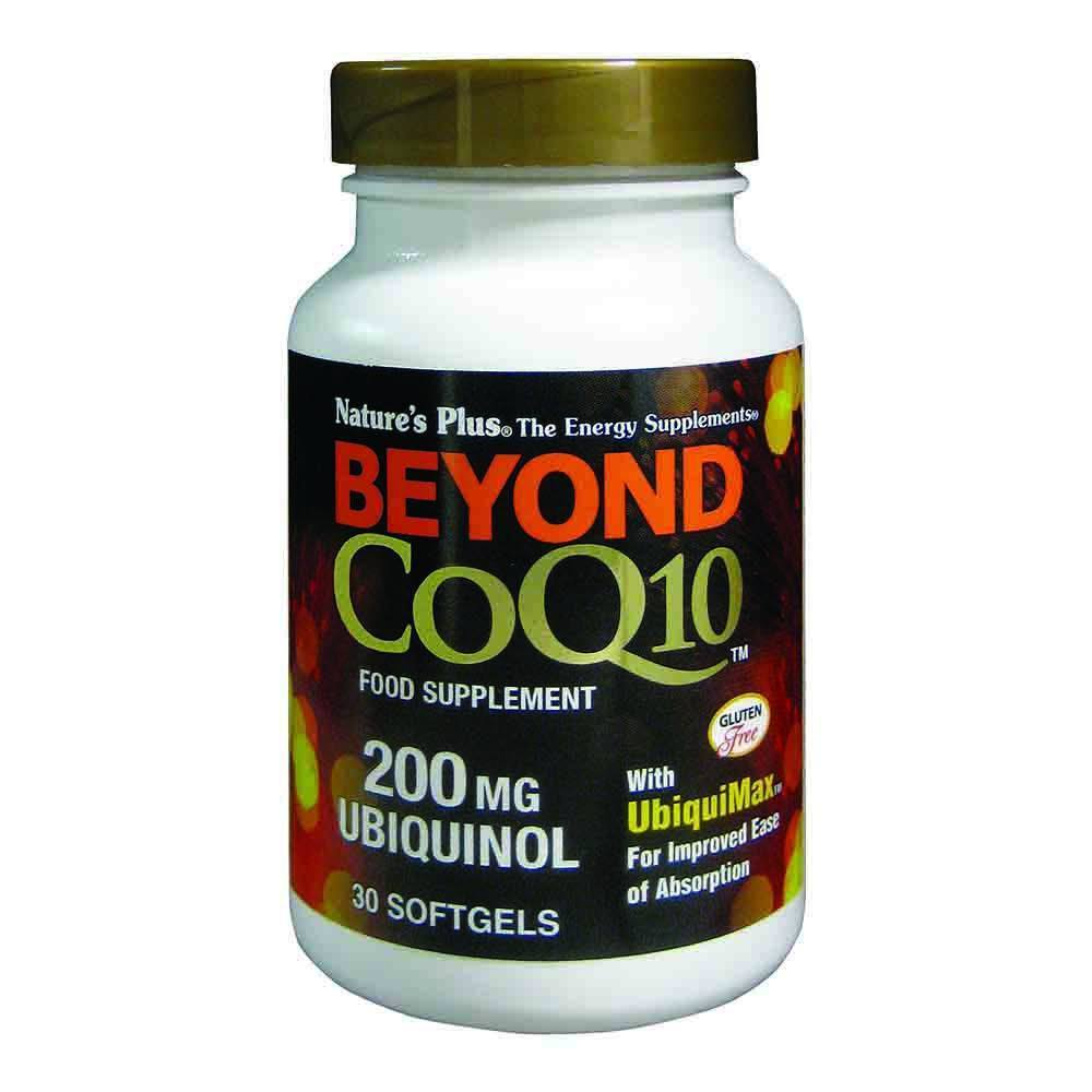 Natures Plus Beyond Co Enzyme Q10 Ubiquinol 200 mg 30 Softgels - Lifestyle Labs