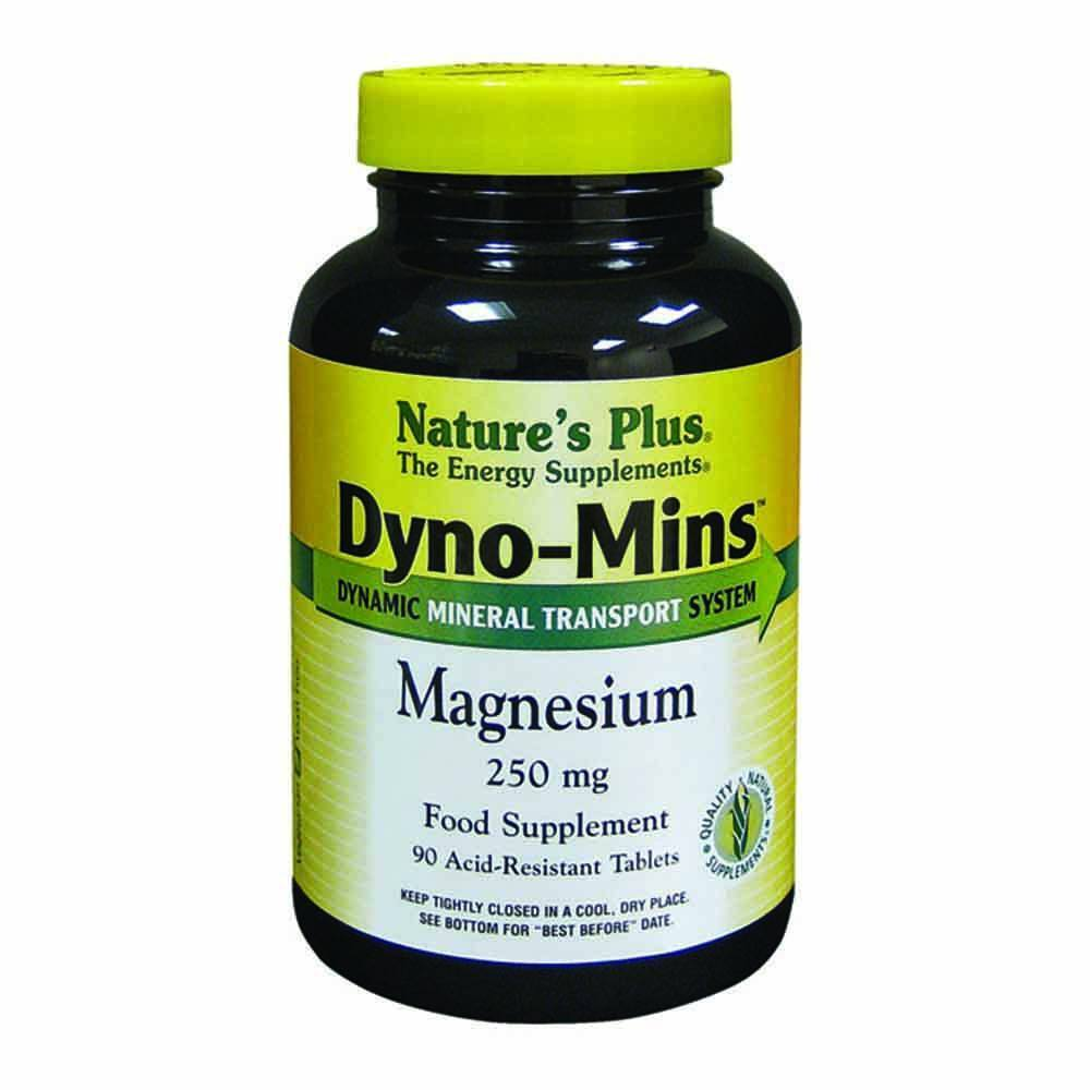 Natures Plus Dyno-Mins Magnesium 250 mg Acid Resistant 90 Tablets - Lifestyle Labs