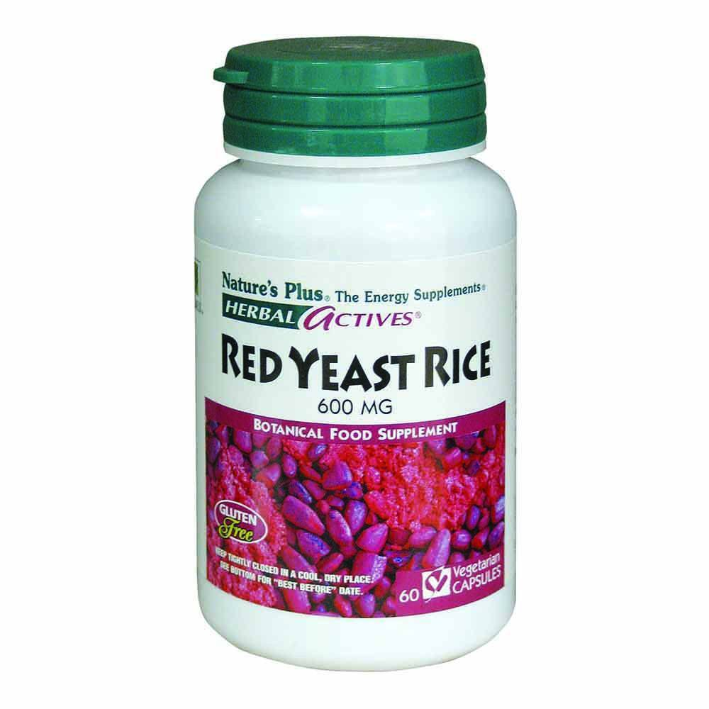 Natures Plus Herbal Actives Red Yeast Rice 600 mg 60 Capsules - Lifestyle Labs