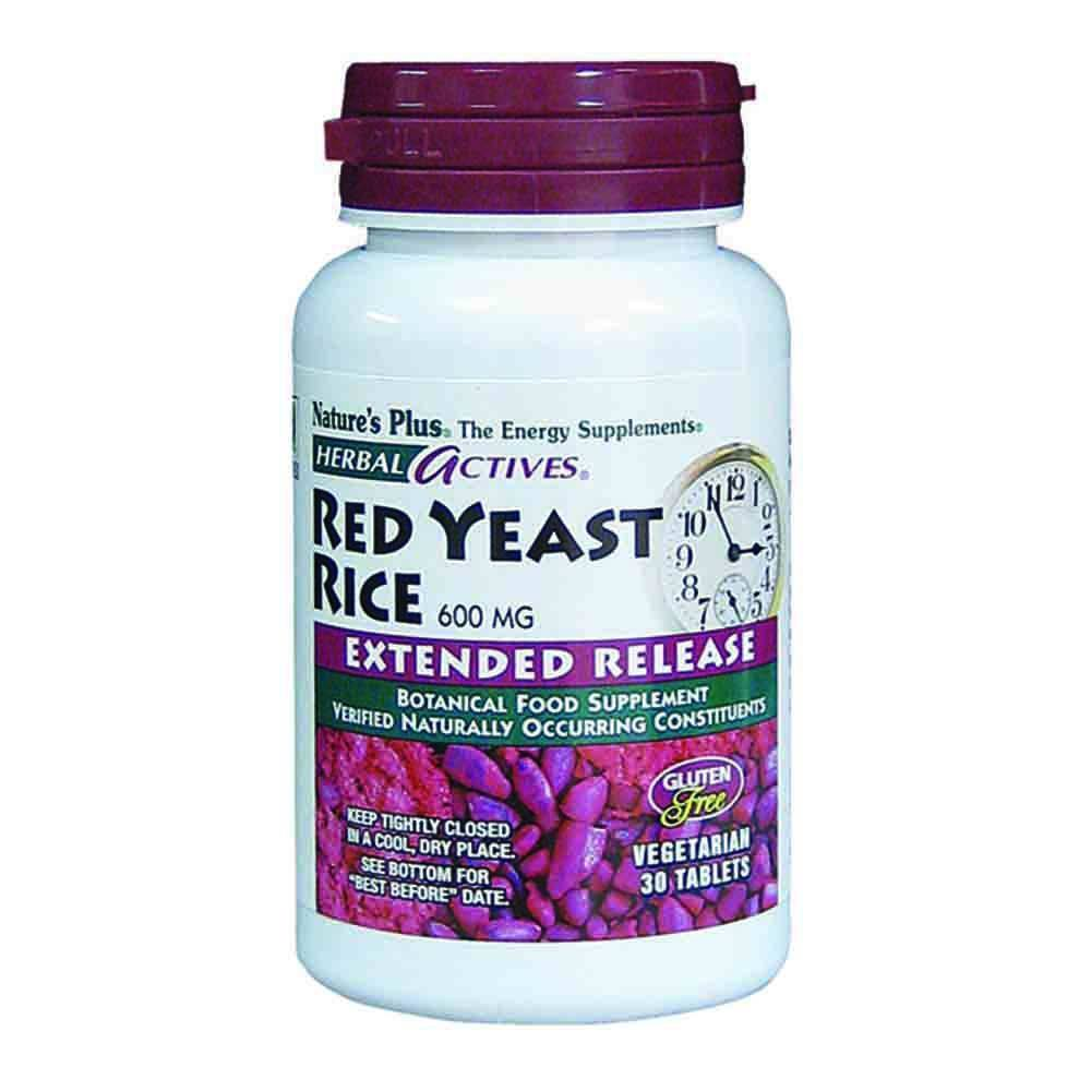 Natures Plus Herbal Actives Red Yeast Rice 600 mg E/R Tablets - Lifestyle Labs