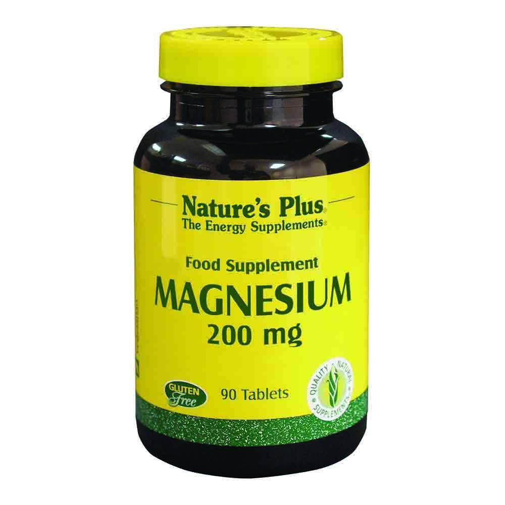Natures Plus Magnesium 200 mg 90 Tablets - Lifestyle Labs