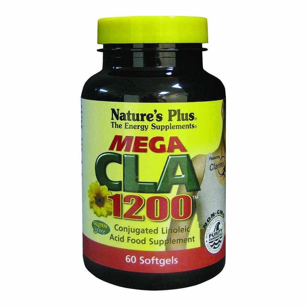 Natures Plus Mega CLA 1,200 mg 60 Softgels - Lifestyle Labs