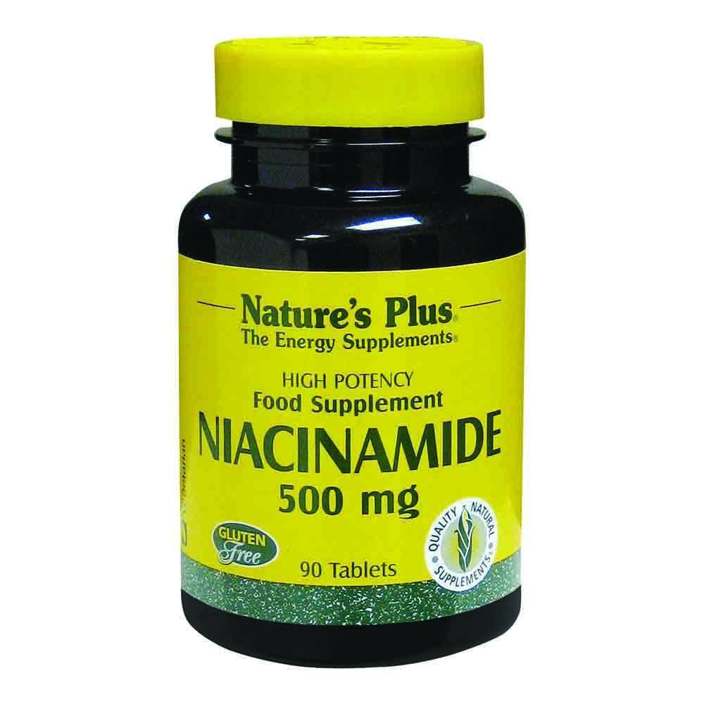 Natures Plus Niacinamide 500 mg 90 Tablets - Lifestyle Labs